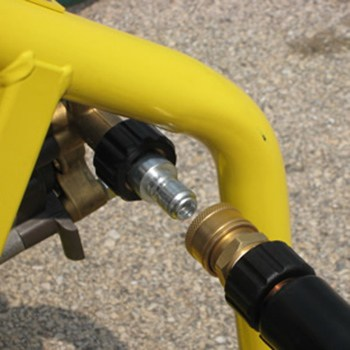 How to Connect the Hoses to the Pressure Washer