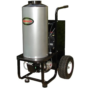 SIMPSON 1500 PSI Diesel Fired Hot Water Pressure Washer