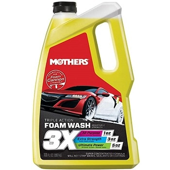 Mothers 05610 3X Triple Action Foam Wash Soap 100 fl. oz