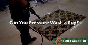 pressure wash a rug