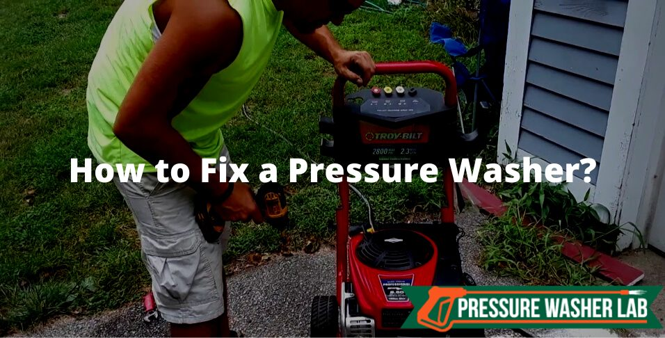 fixing a pressure washer