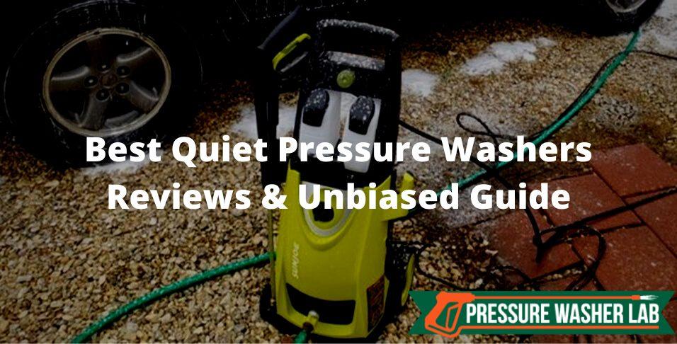choosing quiet pressure washers