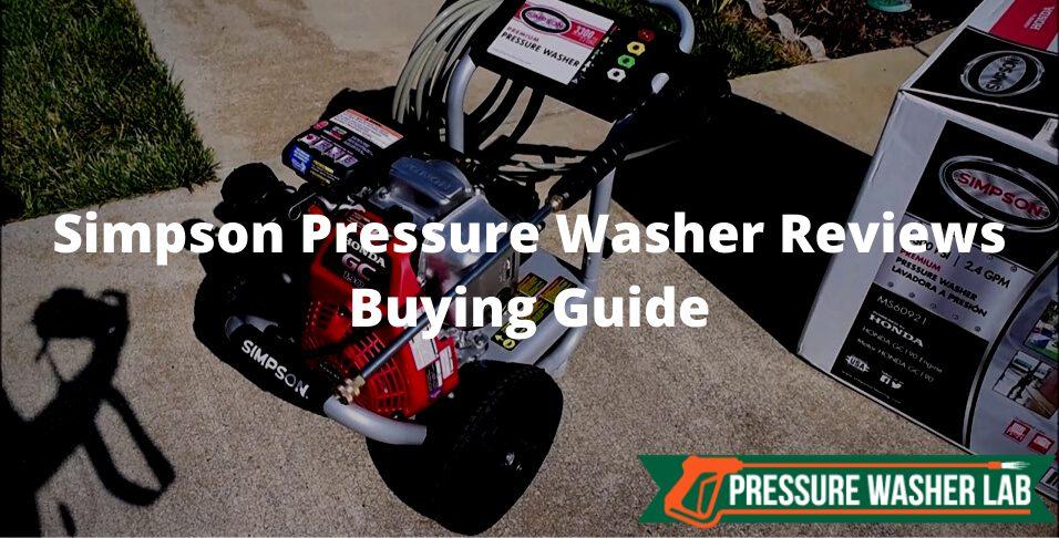 choosing simpson pressure washer