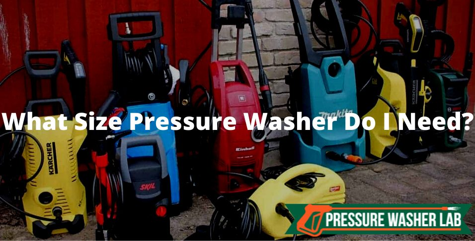 size of pressure washer