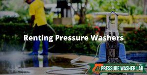 rent a pressure washer