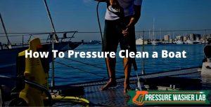 pressure clean a boat